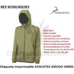 Chaqueta Impermeable KONUSTEX AMODO GREEN