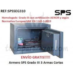 Armero SPS Grado III - 3 Armas Cortas - HOMOLOGADO 2019