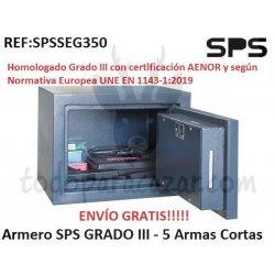 Armero Homologado 2019 SPS SEG350 - Grado 3 - 5 Armas Cortas