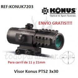 Visor Punto Rojo KONUS PTS2 3x30