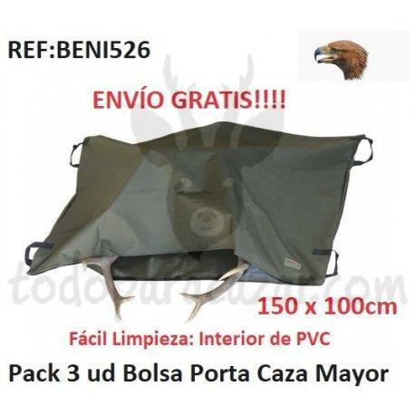 Pack 3 ud - Bolsa Porta Caza Mayor 150x100cm