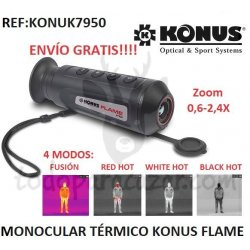 Monocular Térmico Konus FLAME con Zoom 0,6-2,4X