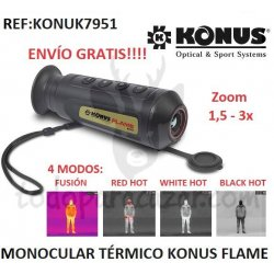 Monocular Térmico Konus FLAME Zoom 1,5-3X