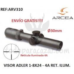 Visor ADLER 1-8X24 - 30mm - RET. ILUM. 4A