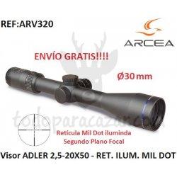 Visor ADLER 2,5-20X50 - 30mm - RET. ILUM. MIL DOT