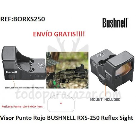 Visor Punto Rojo BUSHNELL RXS-250 Reflex Sight