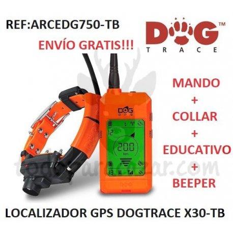 Localizador GPS DOGTRACE X30-TB (Mando + Collar + Educativo + Beeper)