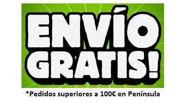 Envío Gratis para todos los pedidos  a partir de 100€ IVA inc. para envíos en la península